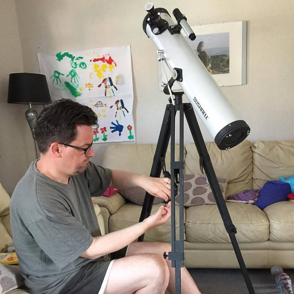 Setting up the telescope
